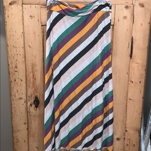 Women's colorful striped maxi skirt